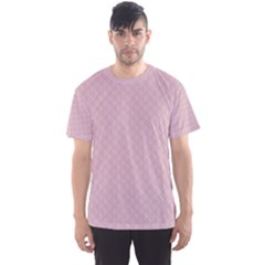 Baby Pink Stitched and Quilted Pattern Men s Sport Mesh Tee