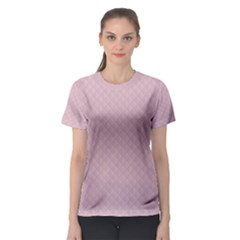 Baby Pink Stitched and Quilted Pattern Women s Sport Mesh Tee