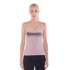 Baby Pink Stitched and Quilted Pattern Spaghetti Strap Top