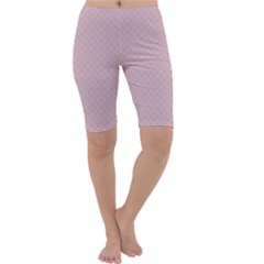Baby Pink Stitched and Quilted Pattern Cropped Leggings