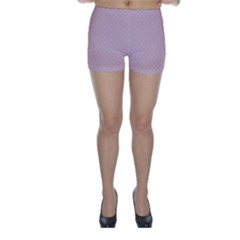 Baby Pink Stitched and Quilted Pattern Skinny Shorts