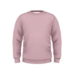 Baby Pink Stitched and Quilted Pattern Kids  Sweatshirt
