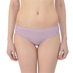 Baby Pink Stitched and Quilted Pattern Hipster Bikini Bottoms