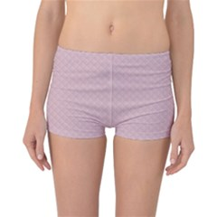 Baby Pink Stitched and Quilted Pattern Reversible Bikini Bottoms