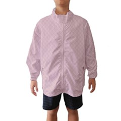 Baby Pink Stitched and Quilted Pattern Wind Breaker (Kids)