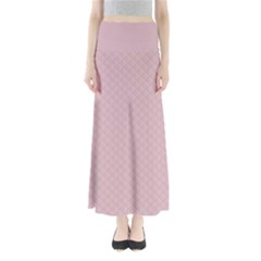 Baby Pink Stitched and Quilted Pattern Maxi Skirts