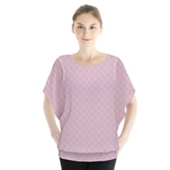 Baby Pink Stitched and Quilted Pattern Blouse