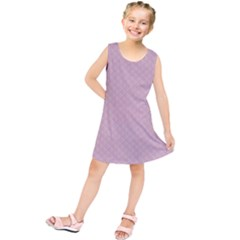 Baby Pink Stitched and Quilted Pattern Kids  Tunic Dress