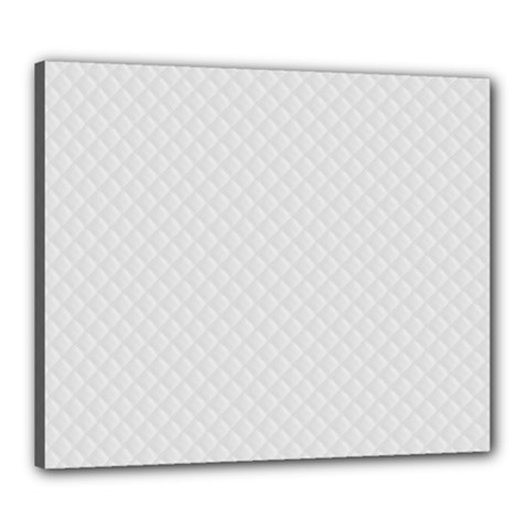 Bright White Stitched and Quilted Pattern Canvas 24  x 20