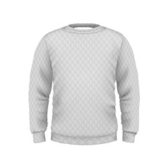 Bright White Stitched and Quilted Pattern Kids  Sweatshirt
