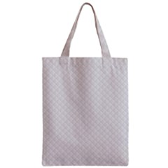Bright White Stitched and Quilted Pattern Zipper Classic Tote Bag