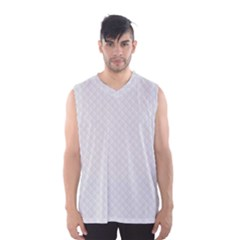 Bright White Stitched and Quilted Pattern Men s Basketball Tank Top