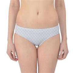 Bright White Stitched and Quilted Pattern Hipster Bikini Bottoms