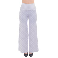 Bright White Stitched and Quilted Pattern Pants