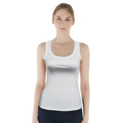 Bright White Stitched and Quilted Pattern Racer Back Sports Top