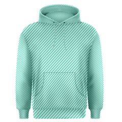 Tiffany Aqua Blue Diagonal Sailor Stripes Men s Pullover Hoodie