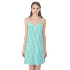 Tiffany Aqua Blue Diagonal Sailor Stripes Camis Nightgown