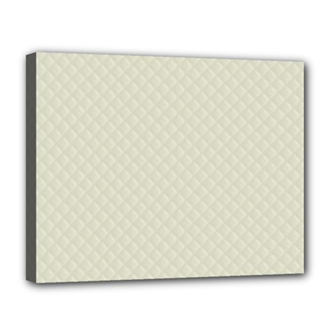 Rich Cream Stitched and Quilted Pattern Canvas 14  x 11