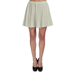 Rich Cream Stitched and Quilted Pattern Skater Skirt