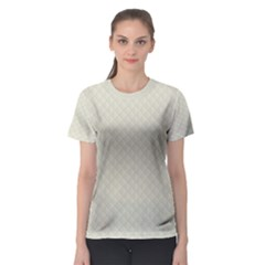 Rich Cream Stitched and Quilted Pattern Women s Sport Mesh Tee