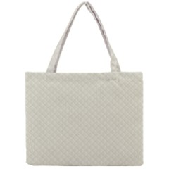 Rich Cream Stitched and Quilted Pattern Mini Tote Bag