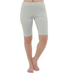 Rich Cream Stitched and Quilted Pattern Cropped Leggings