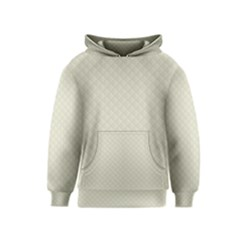Rich Cream Stitched and Quilted Pattern Kids  Pullover Hoodie