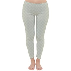 Rich Cream Stitched and Quilted Pattern Classic Winter Leggings