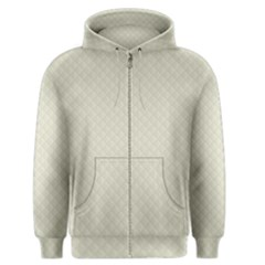 Rich Cream Stitched And Quilted Pattern Men s Zipper Hoodie
