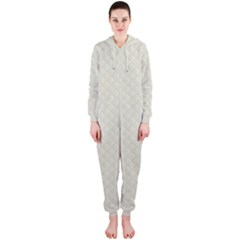 Rich Cream Stitched and Quilted Pattern Hooded Jumpsuit (Ladies)
