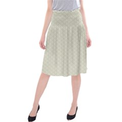 Rich Cream Stitched and Quilted Pattern Midi Beach Skirt