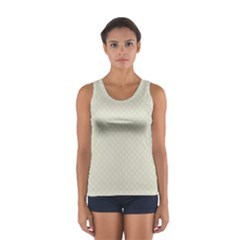 Rich Cream Stitched and Quilted Pattern Women s Sport Tank Top