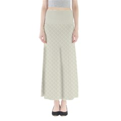 Rich Cream Stitched and Quilted Pattern Maxi Skirts