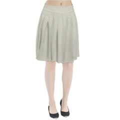 Rich Cream Stitched and Quilted Pattern Pleated Skirt
