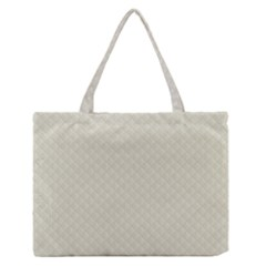 Rich Cream Stitched and Quilted Pattern Medium Zipper Tote Bag
