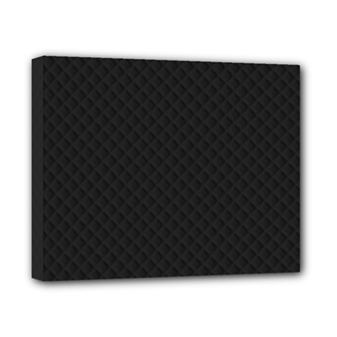 Sleek Black Stitched and Quilted Pattern Canvas 10  x 8