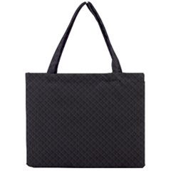 Sleek Black Stitched and Quilted Pattern Mini Tote Bag