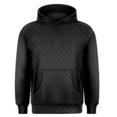 Sleek Black Stitched and Quilted Pattern Men s Pullover Hoodie