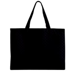Sleek Black Stitched and Quilted Pattern Zipper Mini Tote Bag