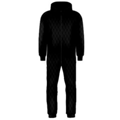Sleek Black Stitched and Quilted Pattern Hooded Jumpsuit (Men)