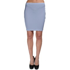Powder Blue Stitched and Quilted Pattern Bodycon Skirt