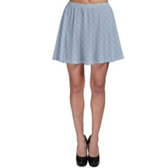 Powder Blue Stitched and Quilted Pattern Skater Skirt