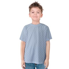 Powder Blue Stitched and Quilted Pattern Kids  Cotton Tee