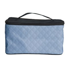 Powder Blue Stitched and Quilted Pattern Cosmetic Storage Case