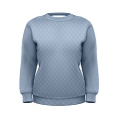 Powder Blue Stitched and Quilted Pattern Women s Sweatshirt