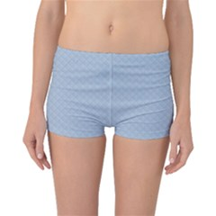 Powder Blue Stitched and Quilted Pattern Boyleg Bikini Bottoms