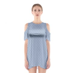 Powder Blue Stitched and Quilted Pattern Shoulder Cutout One Piece