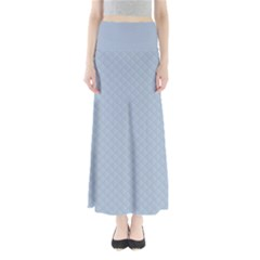 Powder Blue Stitched and Quilted Pattern Maxi Skirts