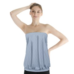 Powder Blue Stitched and Quilted Pattern Strapless Top