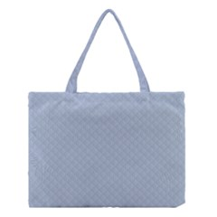 Powder Blue Stitched and Quilted Pattern Medium Tote Bag